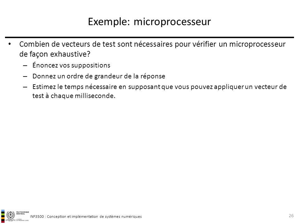 Exemple: microprocesseur