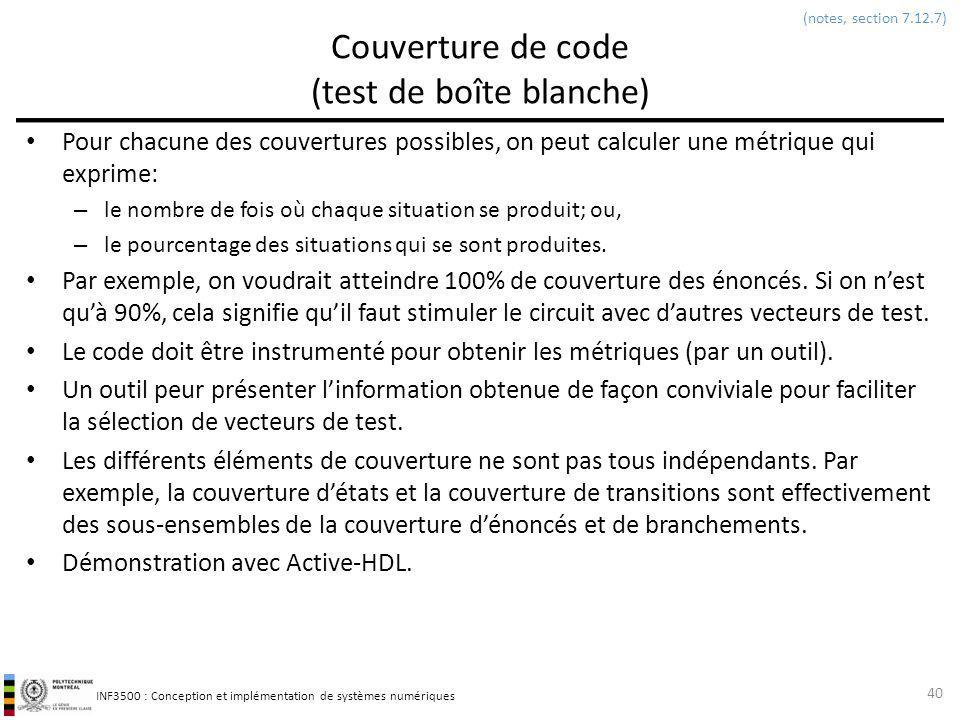 Couverture de code (test de boîte blanche)