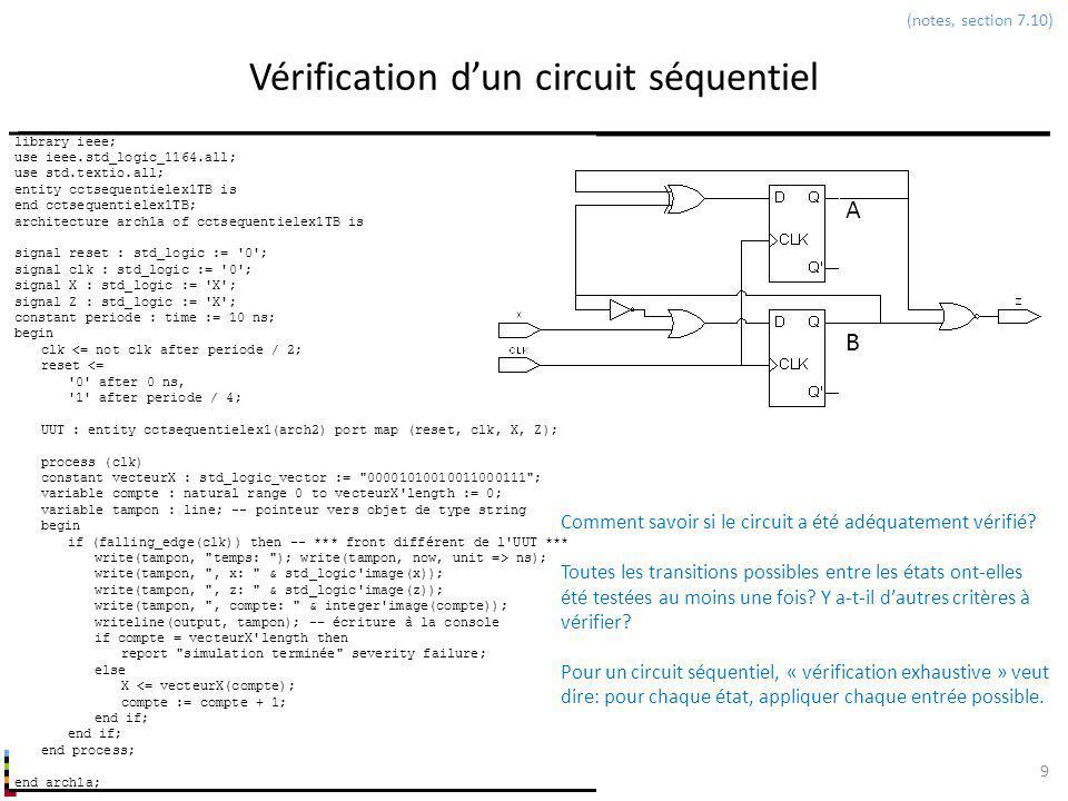 Vérification d'un circuit séquentiel