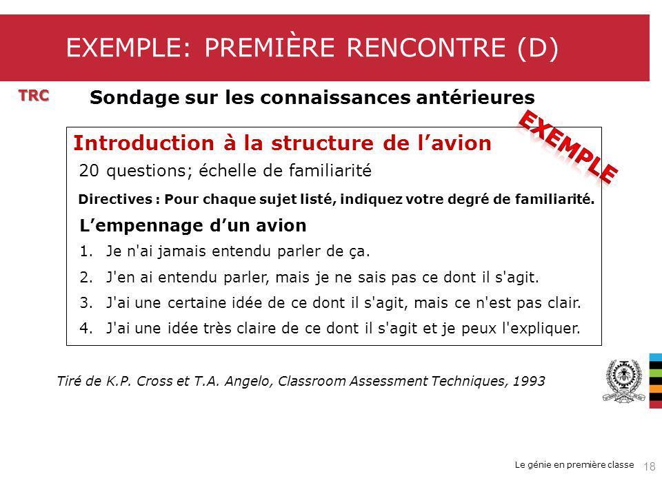 EXEMPLE: PREMIÈRE RENCONTRE (D)