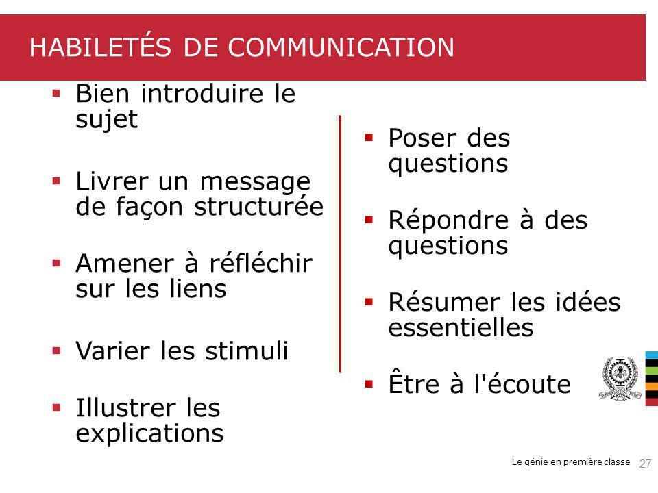 habiletés de communication