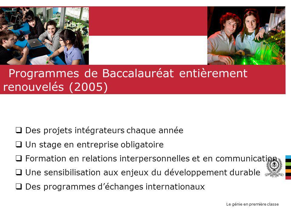 Programmes de Baccalauréat entièrement renouvelés (2005)