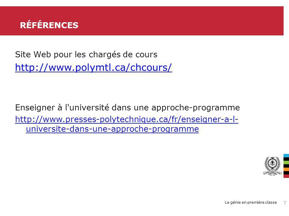 http://www.polymtl.ca/chcours/ RÉFÉRENCES