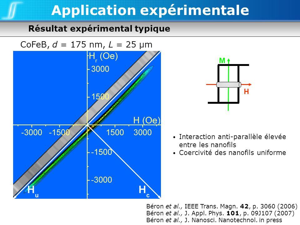 Application expérimentale