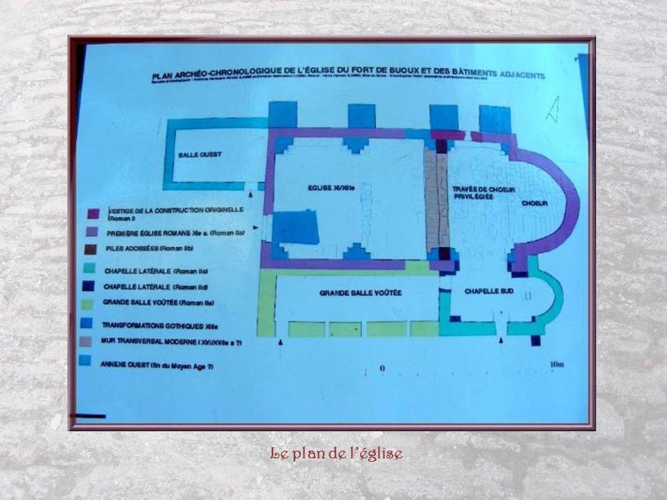Le plan de l'église