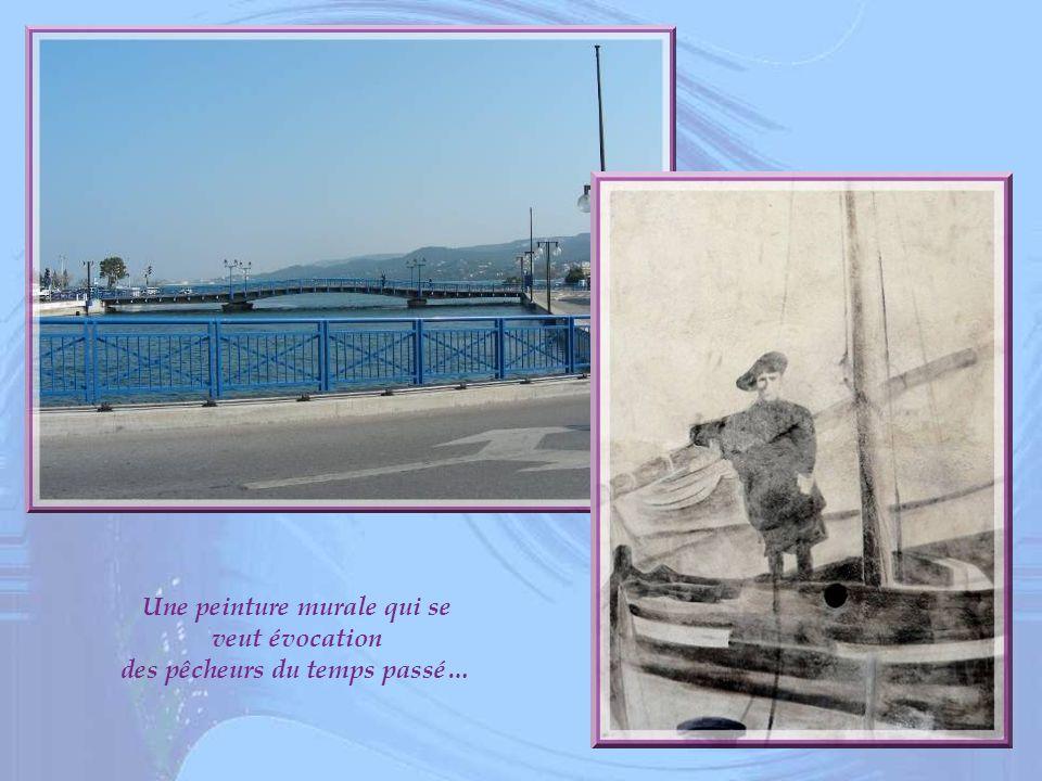 Une peinture murale qui se veut évocation des pêcheurs du temps passé…