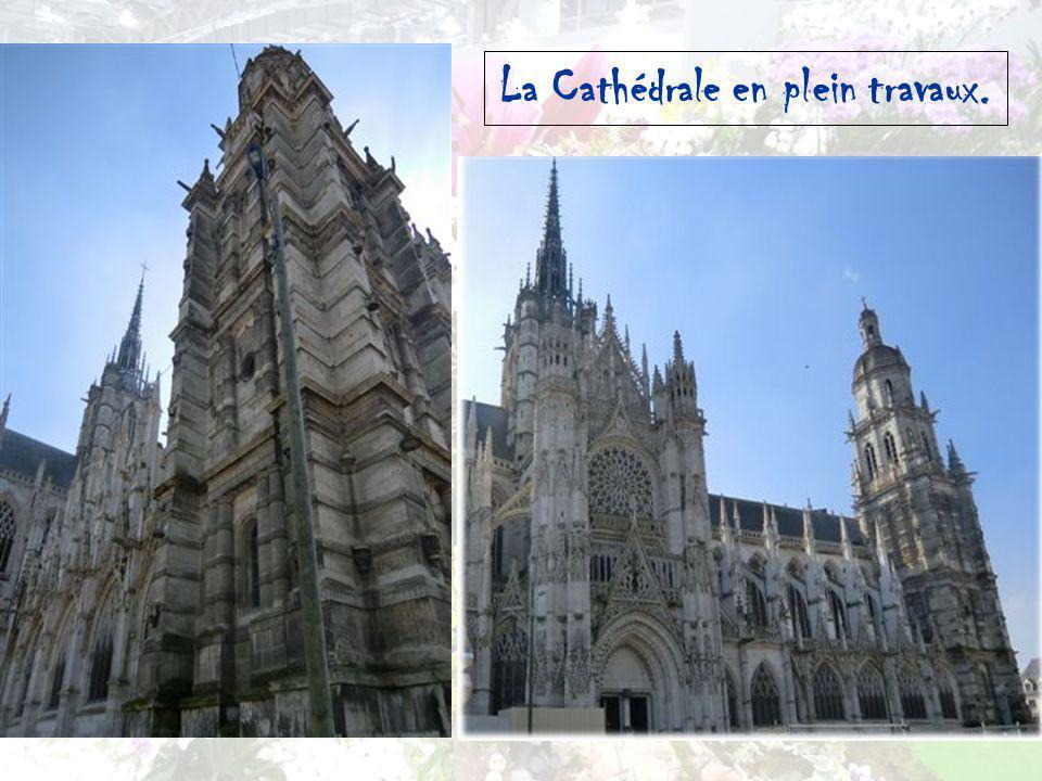 La Cathédrale en plein travaux.
