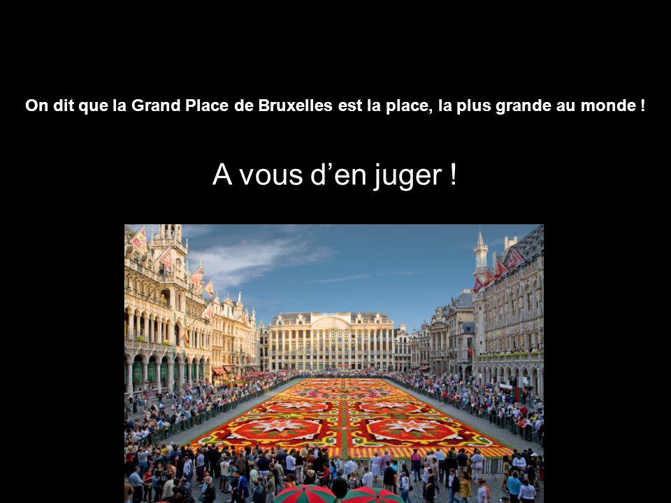 On dit que la Grand Place de Bruxelles est la place, la plus grande au monde ! A vous d'en juger !