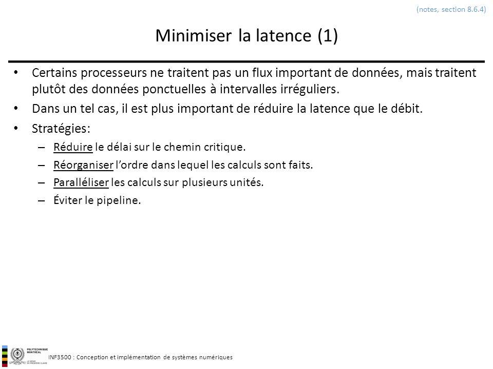 Minimiser la latence (1)