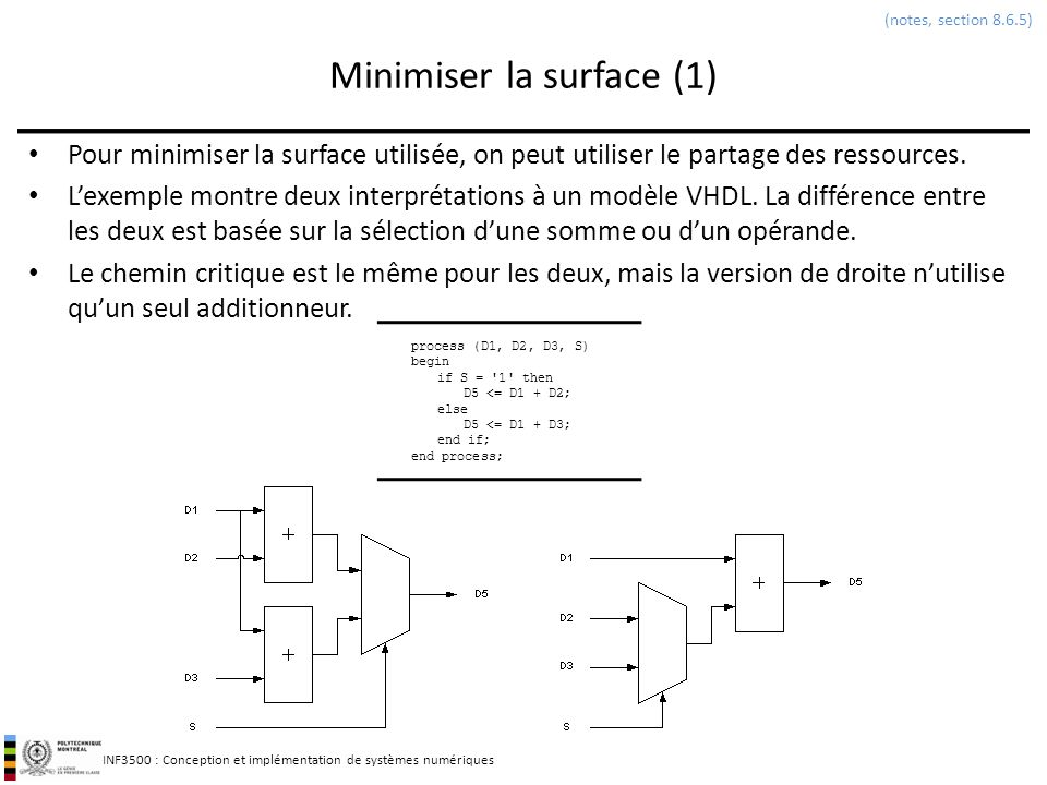 Minimiser la surface (1)