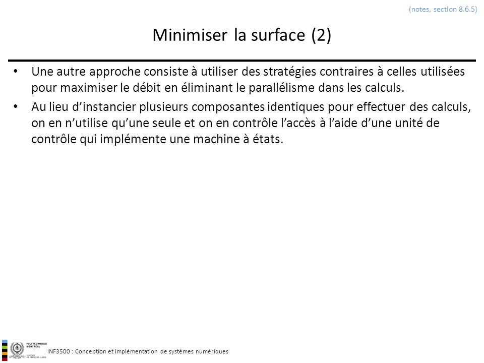 Minimiser la surface (2)