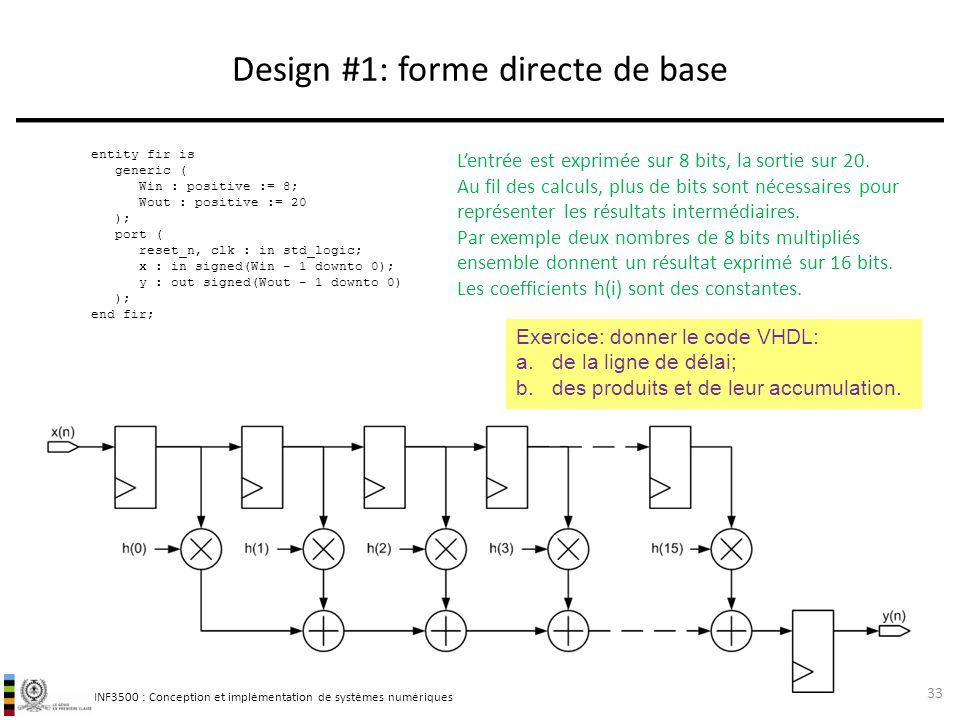 Design #1: forme directe de base