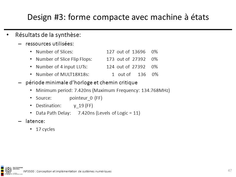 Design #3: forme compacte avec machine à états