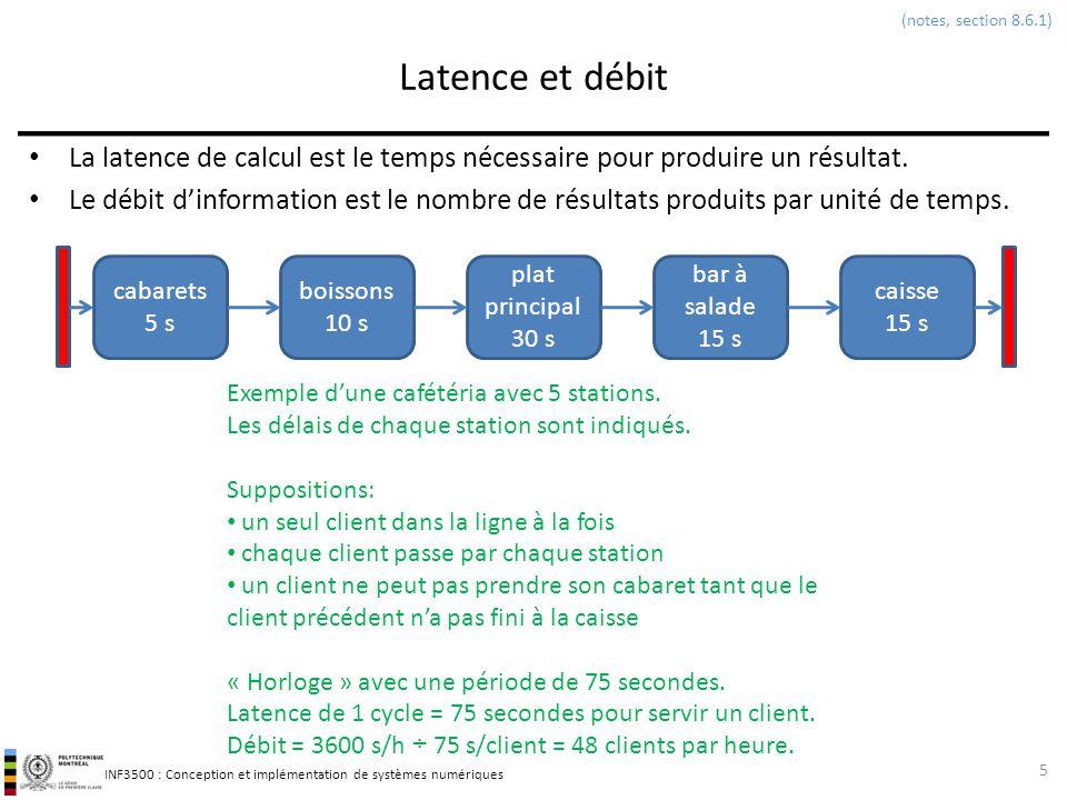 (notes, section 8.6.1) Latence et débit. La latence de calcul est le temps nécessaire pour produire un résultat.