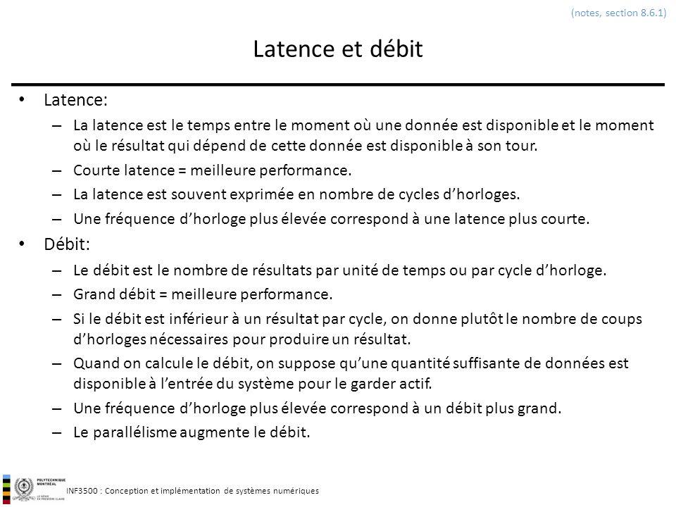 Latence et débit Latence: Débit: