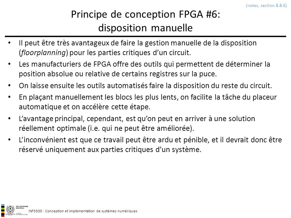 Principe de conception FPGA #6: disposition manuelle