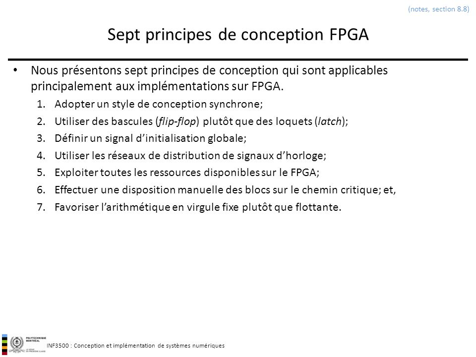 Sept principes de conception FPGA