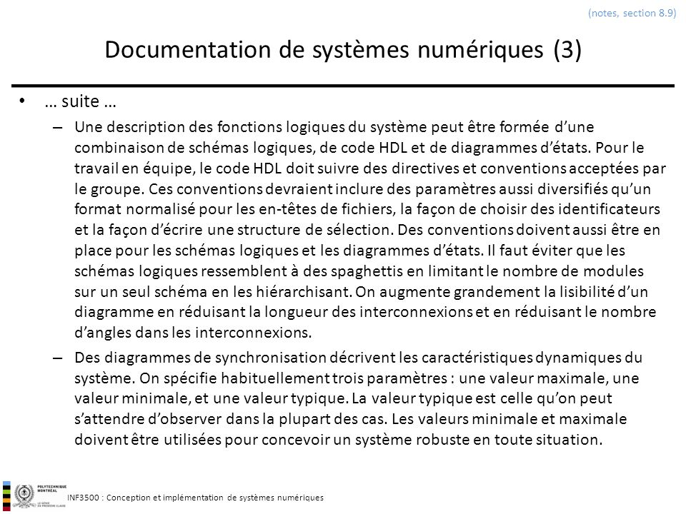 Documentation de systèmes numériques (3)
