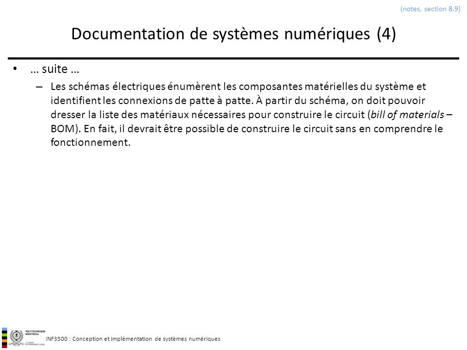 Documentation de systèmes numériques (4)