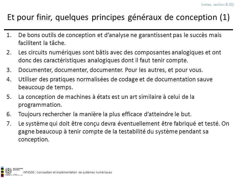 Et pour finir, quelques principes généraux de conception (1)