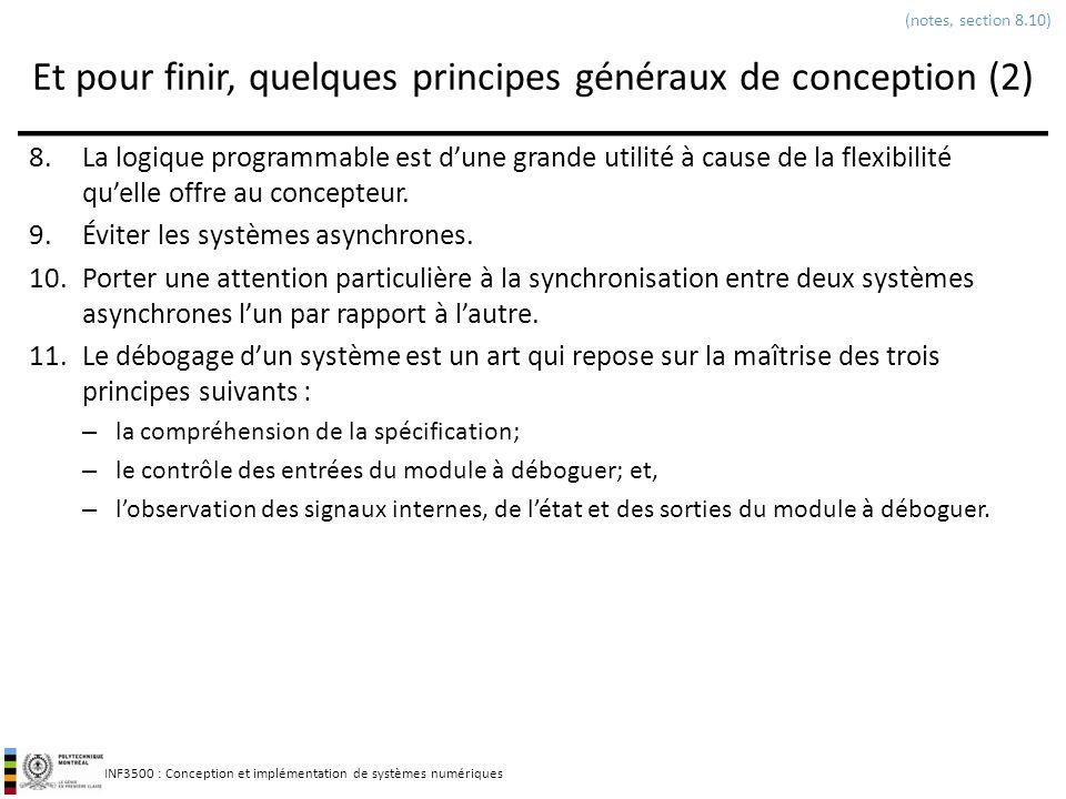Et pour finir, quelques principes généraux de conception (2)