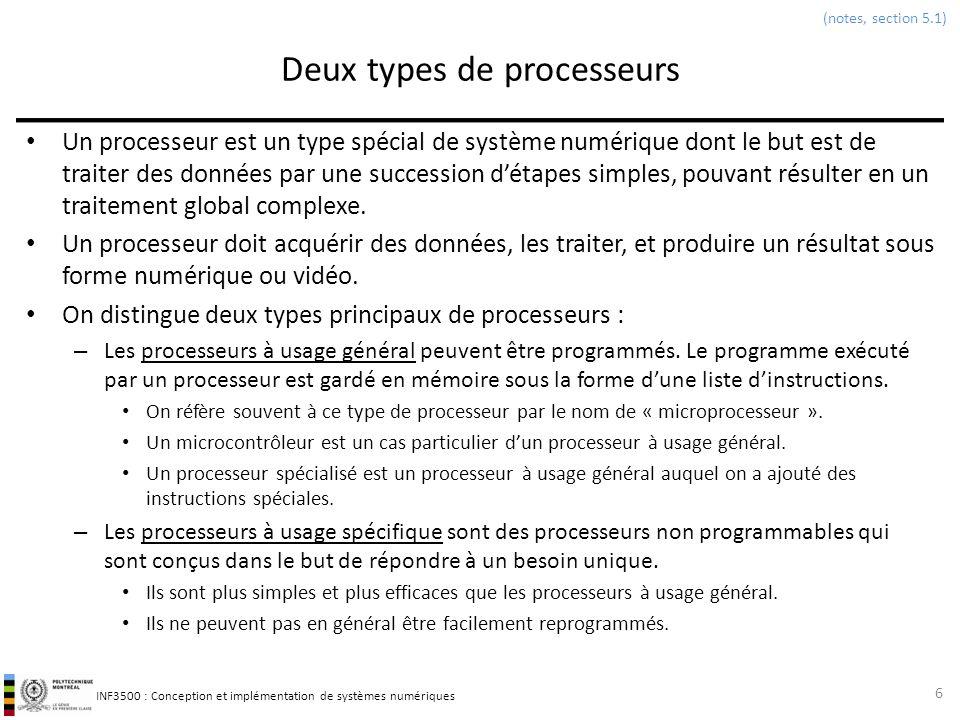 Deux types de processeurs
