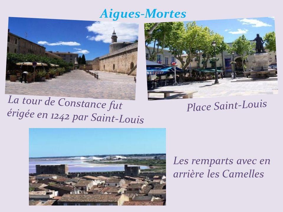 Aigues-Mortes La tour de Constance fut érigée en 1242 par Saint-Louis