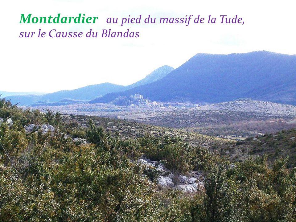 Montdardier au pied du massif de la Tude, sur le Causse du Blandas