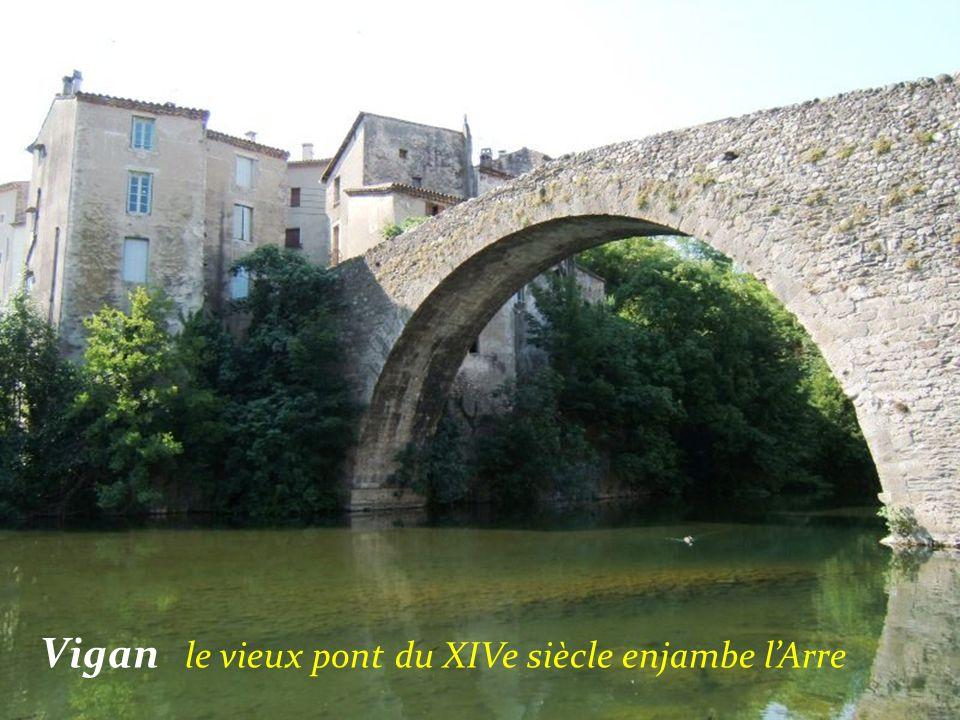 Vigan le vieux pont du XIVe siècle enjambe l'Arre