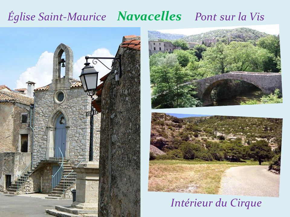 Église Saint-Maurice Navacelles Pont sur la Vis