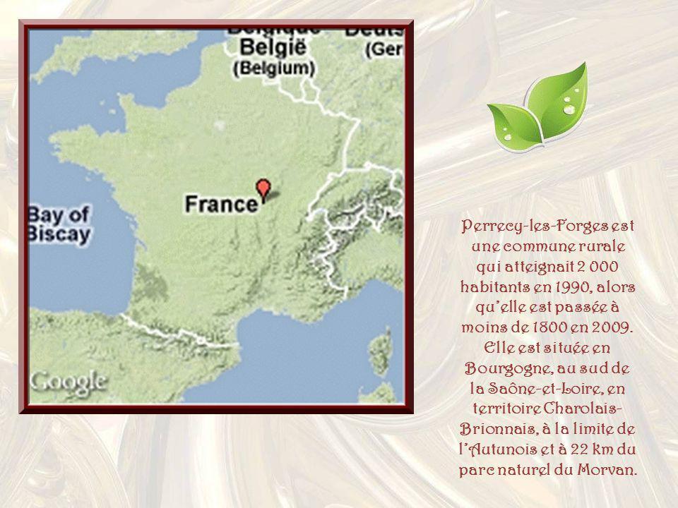 Perrecy-les-Forges est une commune rurale qui atteignait 2 000 habitants en 1990, alors qu'elle est passée à moins de 1800 en 2009.