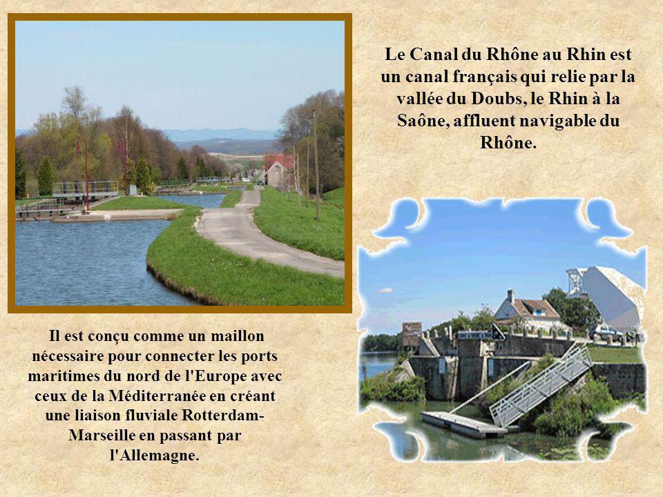 Le Canal du Rhône au Rhin est un canal français qui relie par la vallée du Doubs, le Rhin à la Saône, affluent navigable du Rhône.
