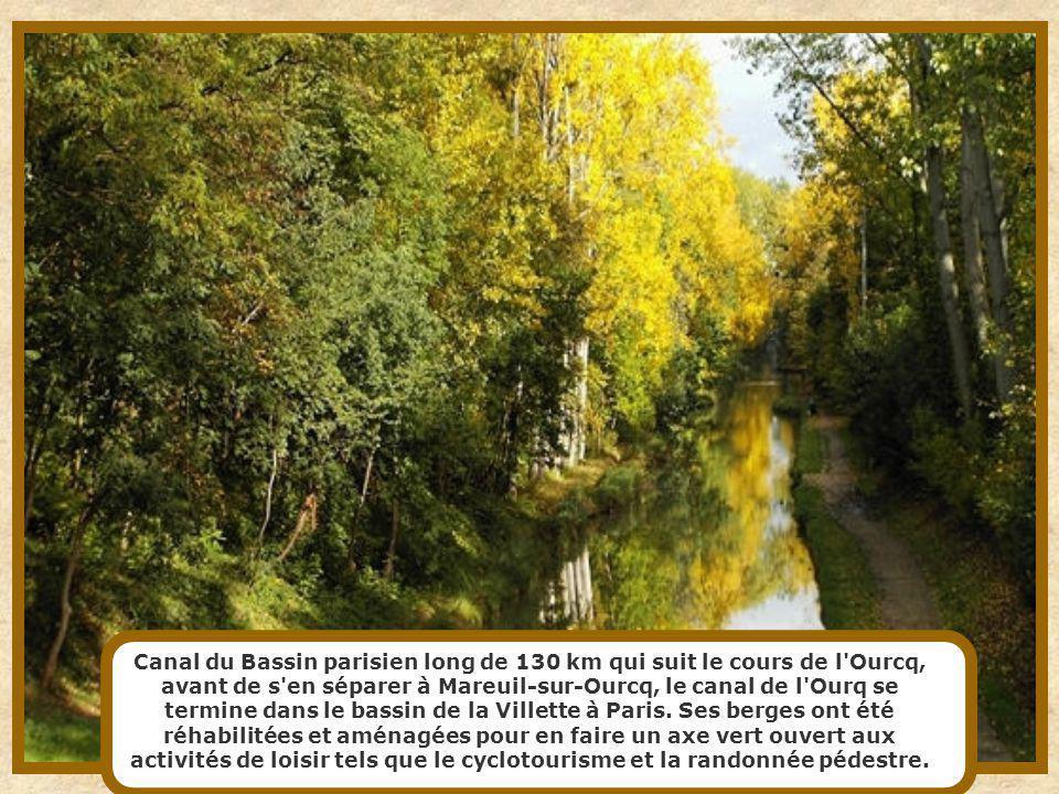 Canal du Bassin parisien long de 130 km qui suit le cours de l Ourcq, avant de s en séparer à Mareuil-sur-Ourcq, le canal de l Ourq se termine dans le bassin de la Villette à Paris.