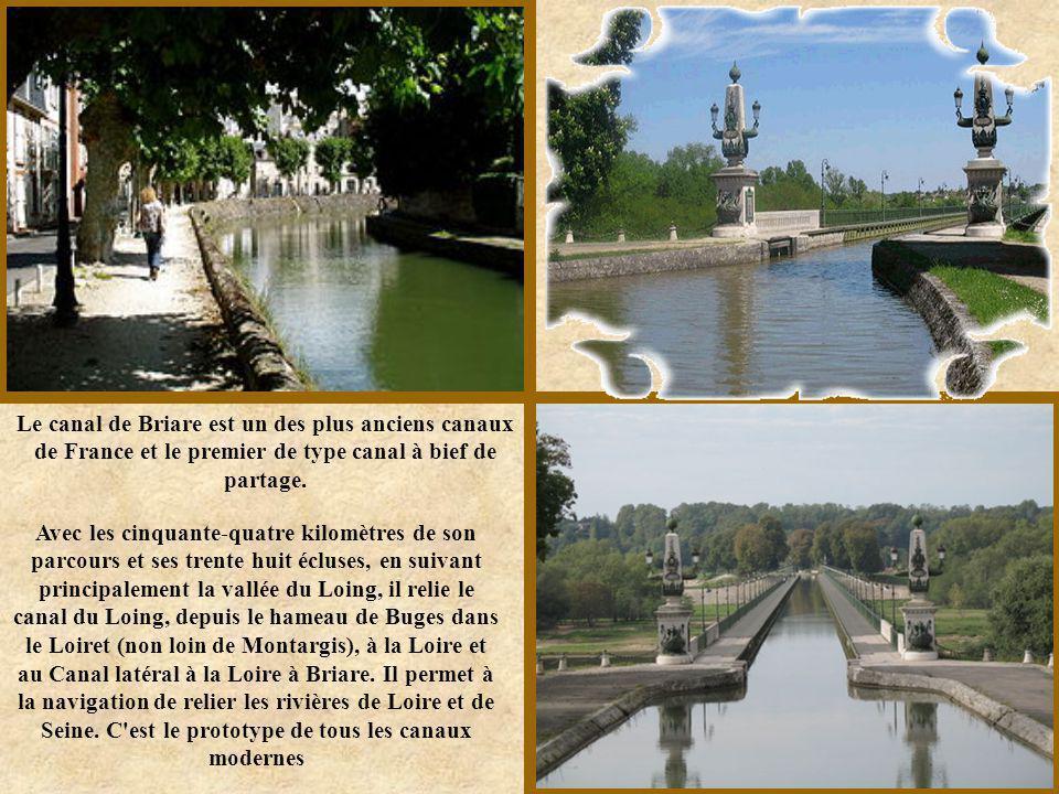 Le canal de Briare est un des plus anciens canaux de France et le premier de type canal à bief de partage.