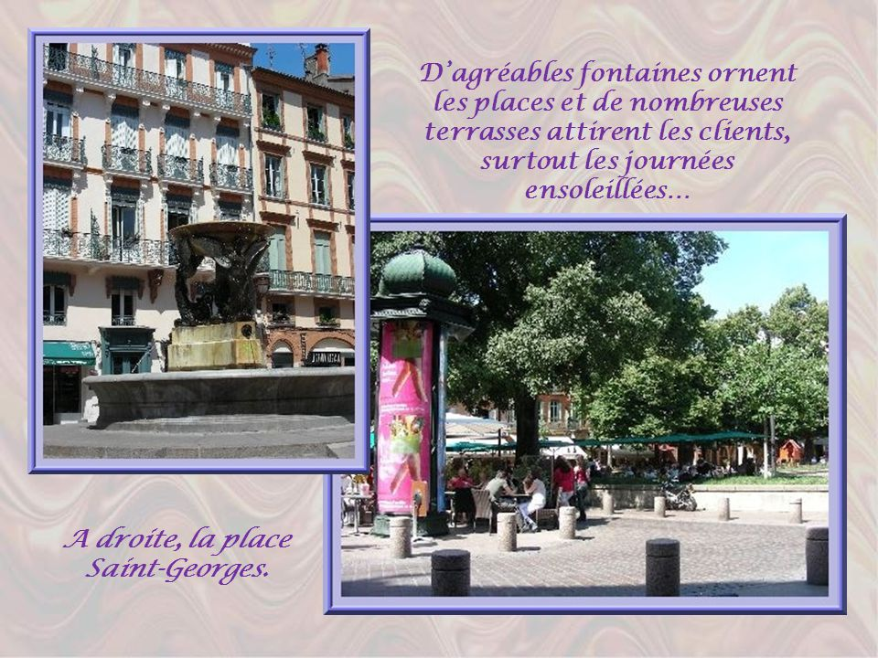 A droite, la place Saint-Georges.