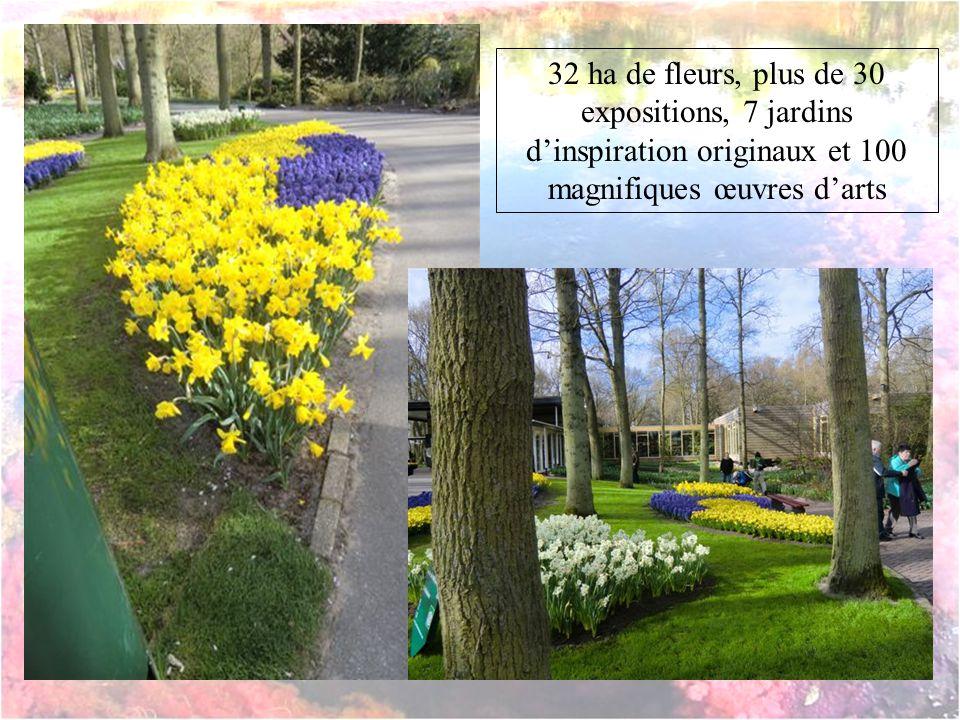 32 ha de fleurs, plus de 30 expositions, 7 jardins d'inspiration originaux et 100 magnifiques œuvres d'arts