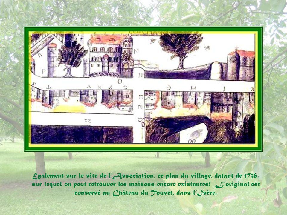 Egalement sur le site de l'Association, ce plan du village, datant de 1736, sur lequel on peut retrouver les maisons encore existantes.