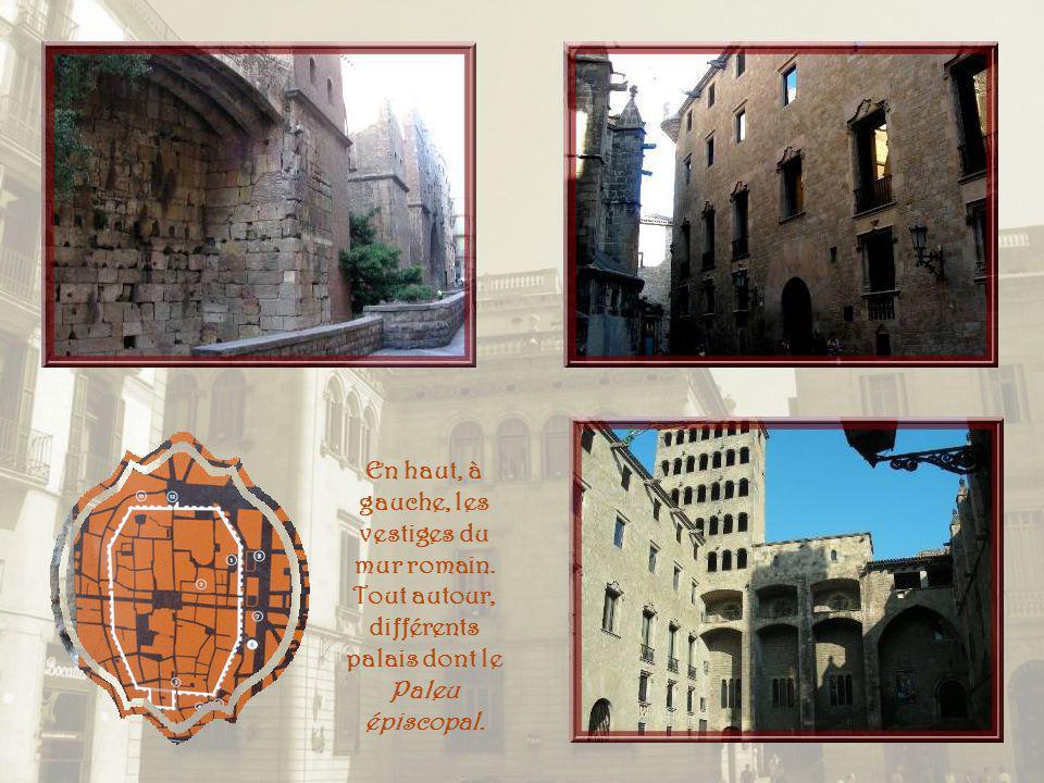 En haut, à gauche, les vestiges du mur romain