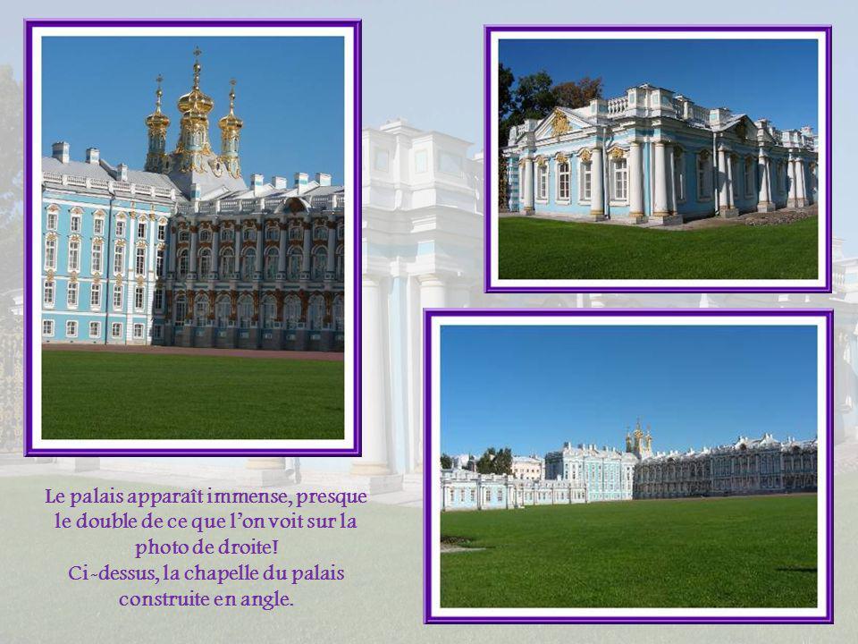 Ci-dessus, la chapelle du palais construite en angle.