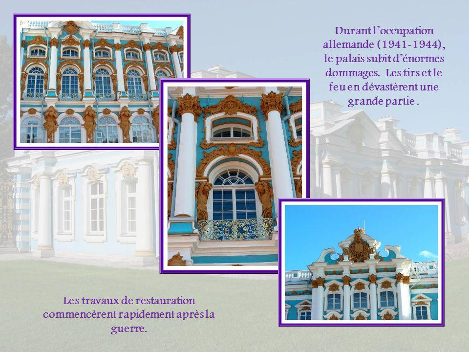 Les travaux de restauration commencèrent rapidement après la guerre.
