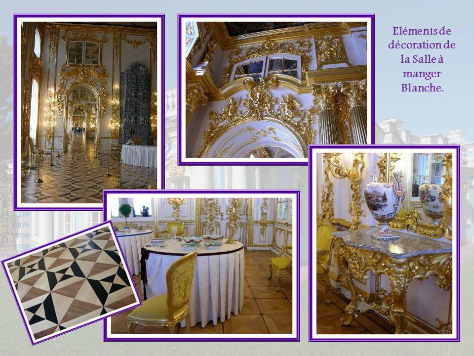 Eléments de décoration de la Salle à manger Blanche.