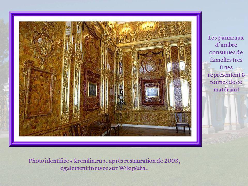 Les panneaux d'ambre constitués de lamelles très fines représentent 6 tonnes de ce matériau!