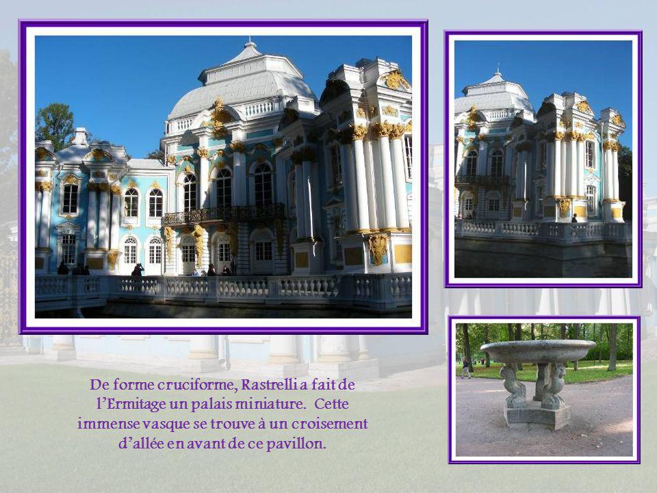 De forme cruciforme, Rastrelli a fait de l'Ermitage un palais miniature.
