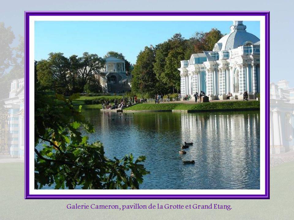 Galerie Cameron, pavillon de la Grotte et Grand Etang.