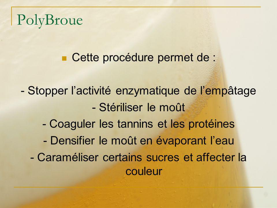 PolyBroue Cette procédure permet de :