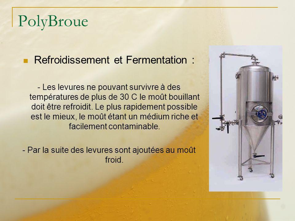 PolyBroue Refroidissement et Fermentation :