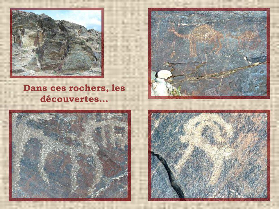 Dans ces rochers, les découvertes…