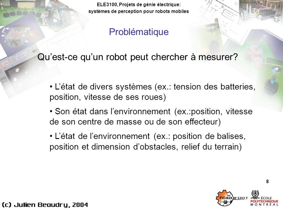 Qu'est-ce qu'un robot peut chercher à mesurer