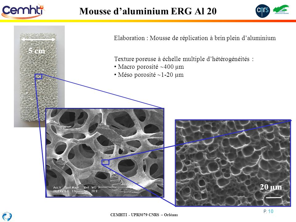 Mousse d'aluminium ERG Al 20