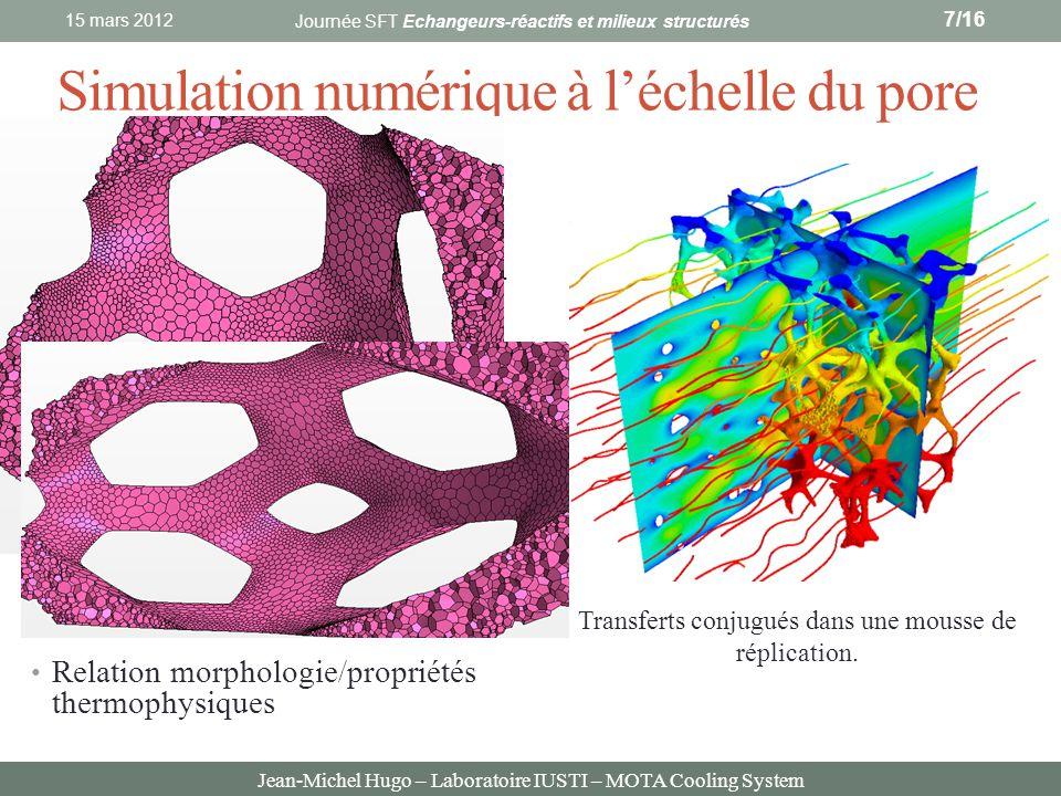 Simulation numérique à l'échelle du pore
